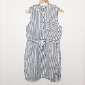 Twik   Nautical Preppy Striped Shift Dress Size M
